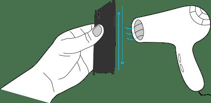 Aplicare caldura dupa lipire