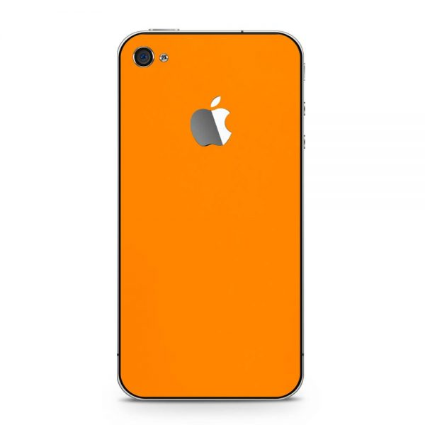 Skin Portocaliu Mat iPhone 4 / 4s