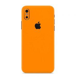 Skin Portocaliu Mat iPhone X / iPhone Xs / iPhone Xs Max