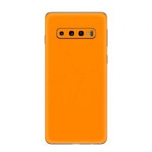 Skin Portocaliu Mat Samsung Galaxy S10 / S10 Plus