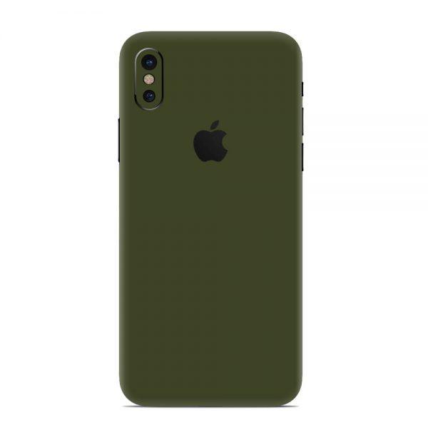 Skin Nato Green Mat iPhone X / Xs / Xs Max