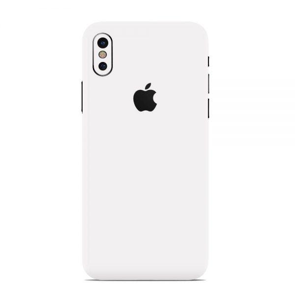 Skin Alb Mat iPhone X / Xs / Xs Max