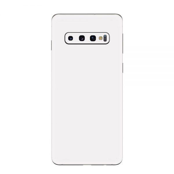 Skin Alb Mat Samsung Galaxy S10 / S10 Plus