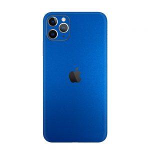 Skin Metal Albastru Mat iPhone 11 Pro / 11 Pro Max