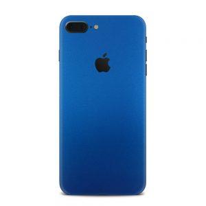 Skin Metal Albastru Mat iPhone 7 Plus / 8 Plus