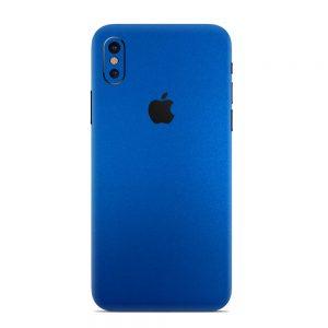 Skin Metal Albastru Mat iPhone X / Xs / Xs Max