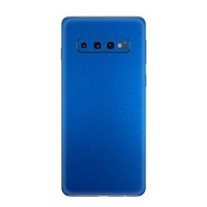 Skin Metal Albastru Mat Samsung Galaxy S10 / S10 Plus