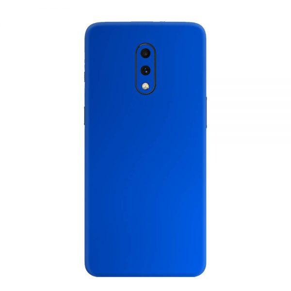 Skin Crom Albastru Mat OnePlus 7