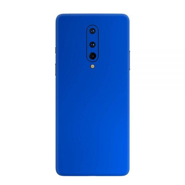 Skin Crom Albastru Mat OnePlus 8