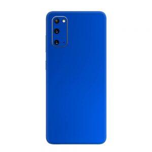 Skin Crom Albastru Mat Samsung Galaxy S20