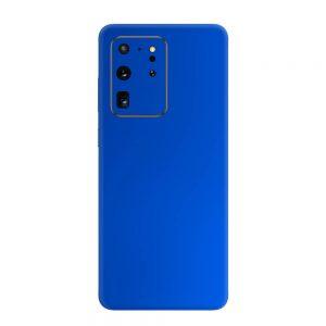 Skin Crom Albastru Mat Samsung Galaxy S20 Ultra