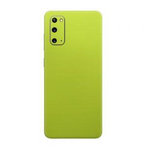 Skin Crom Galben Verzui Mat Samsung Galaxy S20