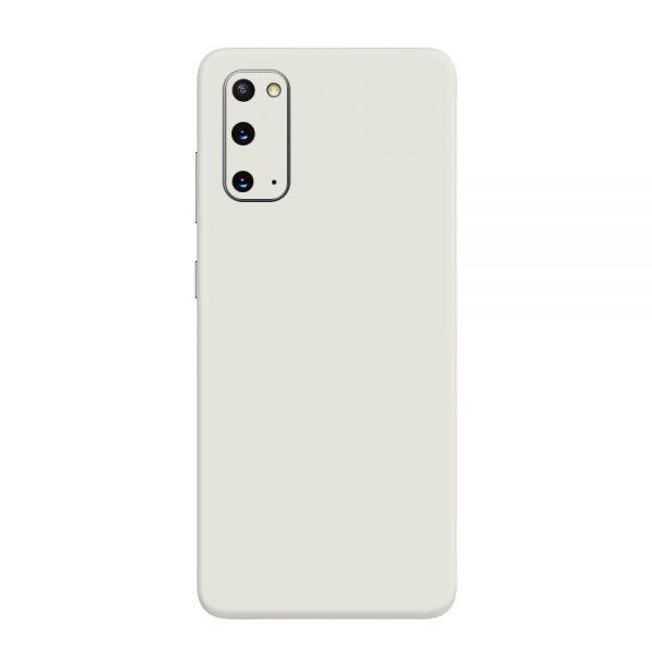 Skin Alb Mat Samsung Galaxy S20