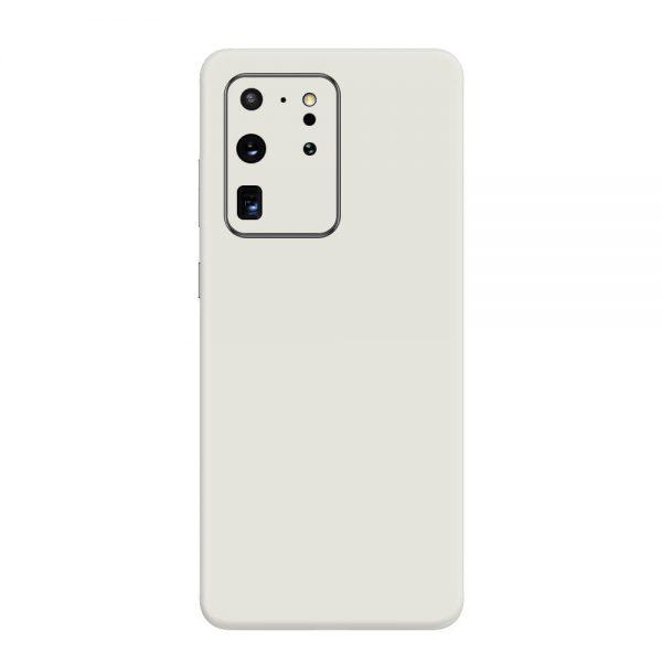 Skin Alb Mat Samsung Galaxy S20 Ultra