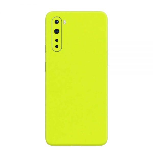 Skin Verde Neon Metalizat OnePlus Nord