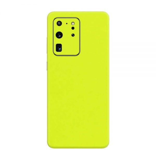 Skin Verde Neon Metalizat Samsung Galaxy S20 Ultra