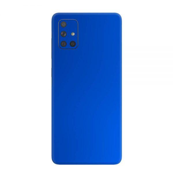 Skin Crom Albastru Mat Samsung Galaxy A71