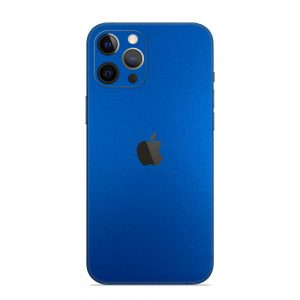 Skin Metal Albastru Mat iPhone 12 Pro / iPhone 12 Pro Max