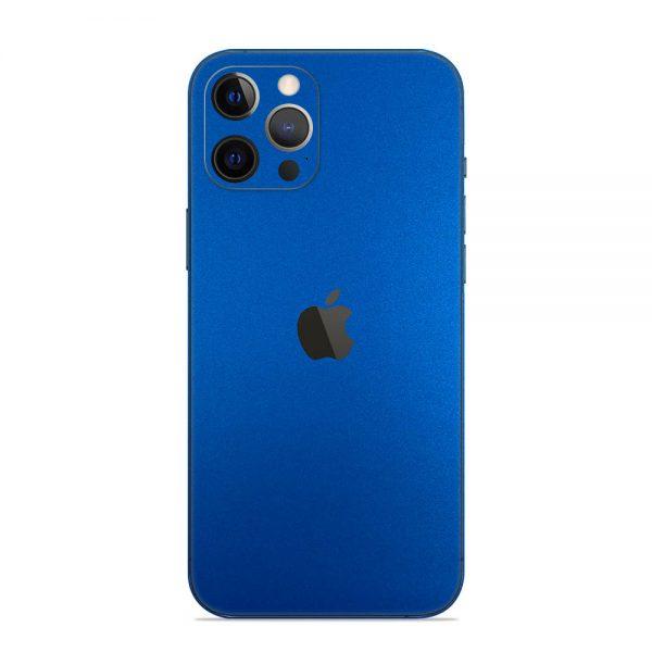 Skin Metal Albastru Mat iPhone 12 Pro / iPhone 12 Pro Max