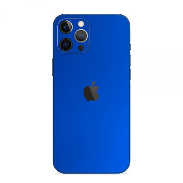 Skin Crom Albastru Mat iPhone 12 Pro / iPhone 12 Pro Max