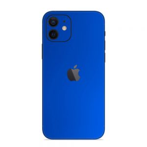 Skin Crom Albastru Mat iPhone 12
