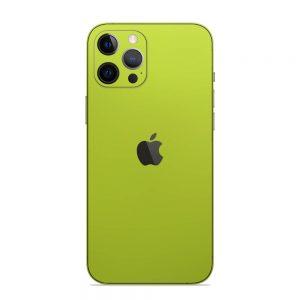 Skin Crom Galben Verzui Mat iPhone 12 Pro / iPhone 12 Pro Max