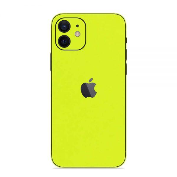 Skin Verde Neon Metalizat iPhone 12