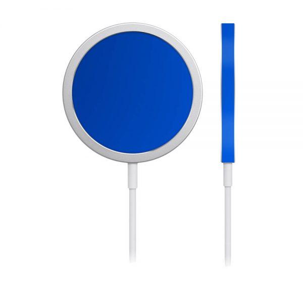 Skin Crom Albastru Mat pentru încărcător iPhone MagSafe