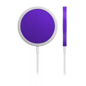 Skin Crom Violet Mat pentru încărcător iPhone MagSafe