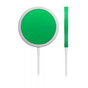 Skin Crom Verde Mat pentru încărcător iPhone MagSafe