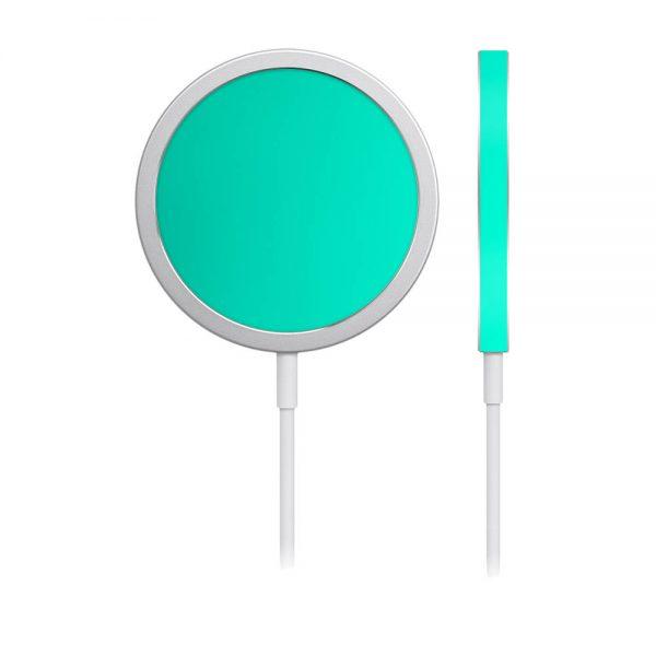 Skin Crom Verde Smarald Mat pentru încărcător iPhone MagSafe