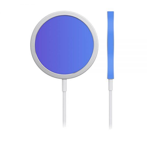 Skin Cameleon Bleu Mov pentru încărcător iPhone MagSafe