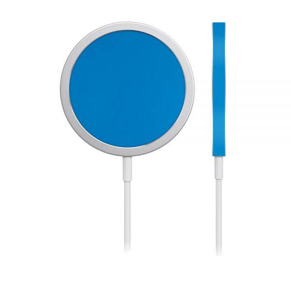 Skin Albastru Mat pentru încărcător iPhone MagSafe