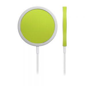 Skin Crom Galben Verzui Mat pentru încărcător iPhone MagSafe
