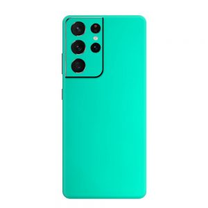 Skin Crom Verde Smarald Mat Samsung Galaxy S21 Ultra