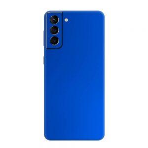 Skin Crom Albastru Mat Samsung Galaxy S21 / S21 Plus