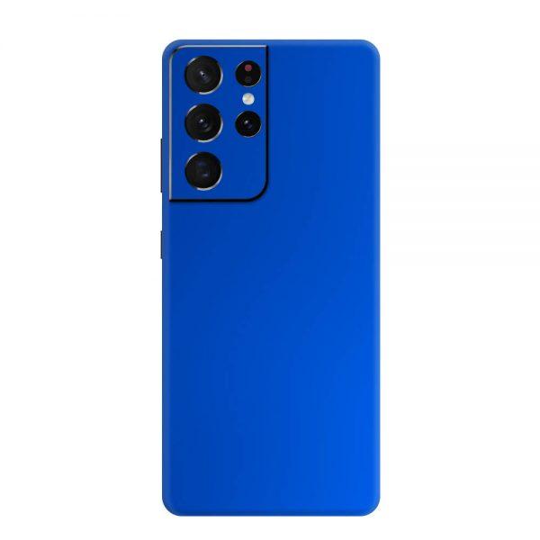 Skin Crom Albastru Mat Samsung Galaxy S21 Ultra