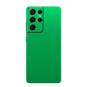 Skin Crom Verde Mat Samsung Galaxy S21 Ultra