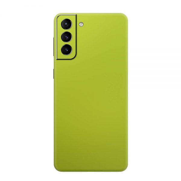Skin Crom Galben Verzui Mat Samsung Galaxy S21 / S21 Plus