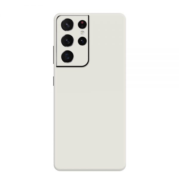 Skin Alb Mat Samsung Galaxy S21 Ultra
