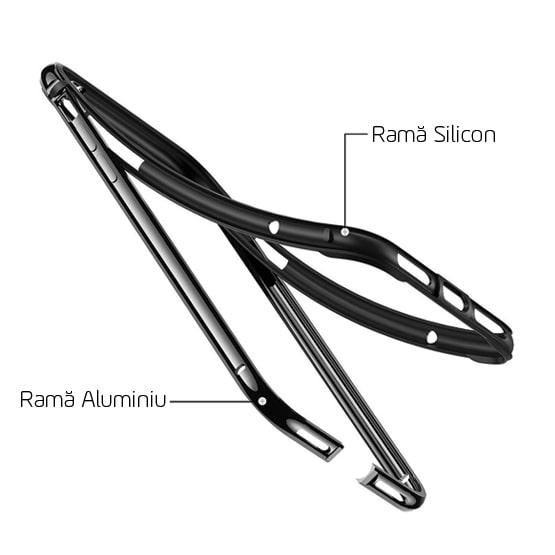 Carcasa Aluminiu + Silicon iPhone