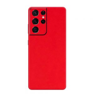 Skin Roșu Mat Samsung Galaxy S21 Ultra