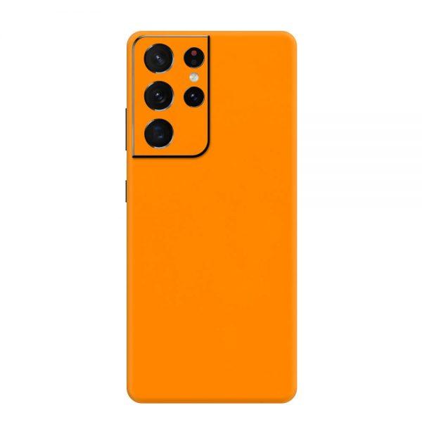 Skin Portocaliu Mat Samsung Galaxy S21 Ultra