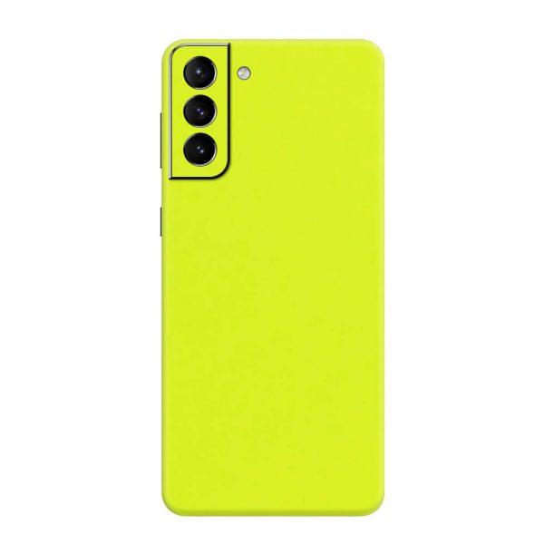Skin Verde Neon Metalizat Samsung Galaxy S21 / S21 Plus