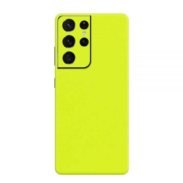 Skin Verde Neon Metalizat Samsung Galaxy S21 Ultra
