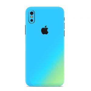 Skin Cameleon Bleu Auriu iPhone X / Xs / Xs Max