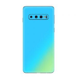 Skin Cameleon Bleu Auriu Samsung Galaxy S10 / Galaxy S10 Plus