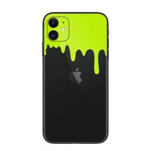 Acid Green Drips Skin iPhone 11