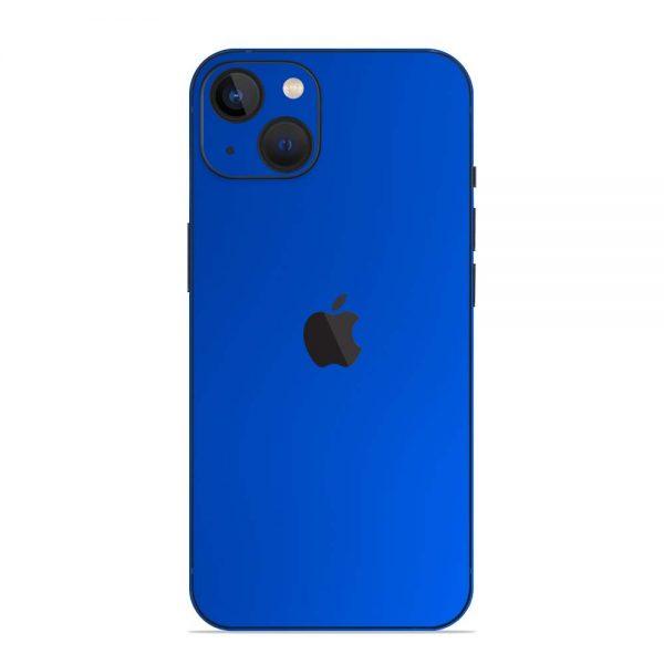 Skin Crom Albastru Mat iPhone 13 / 13 Mini