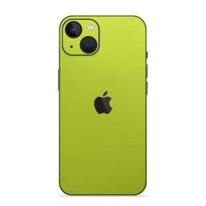 Skin Crom Galben Verzui Mat iPhone 13 / 13 Mini